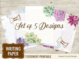 Lined Stationery Paper Interesting Lined Writing Letter Set Of 48 Printable Journal Paper Etsy