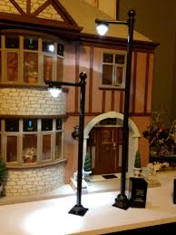 lighting for dollhouses. Street Lamp Post Made Using Battery Operated Floral LED Lights Lighting For Dollhouses H