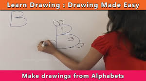 How To Draw Using Alphabets Learn Drawing For Kids Learn Drawing Step By Step For Children