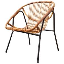 catchy modern bamboo chair mid century modern bamboo bucket lounge chair at 1stdibs