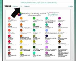 Wilton Food Gel Chart Color Mixing Chart To Use Im Guessing Wilton Paste Colors