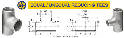 Pipe Tee Dimensions Chart Pipe Tee Equal Tee Reducing Tee Unequal Tee Manufacturer