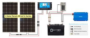 solar panel calculator and diy wiring diagrams for rv and campers 200w solar panel wiring diagram for a camper van conversion or rv