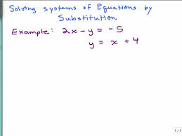 solving a system of equations by substitution part 1 help in high school math advanced algebra free math help s by mathvids com