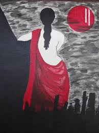 waiting painting miss you by sree b