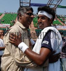 Indian tennis player Prakash Amritraj being greeted by his father Vijay  Amritraj after he won... | The Hindu Images