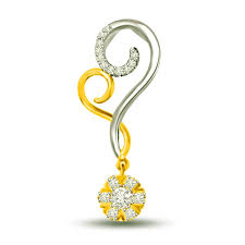 surat diamond 0 15 cts heart shape flower diamond pendant p1014