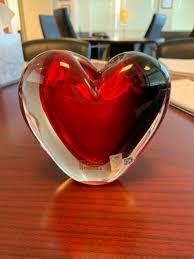 vases murano glass heart vase 7