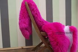 pink sheepskin rug real carpet large amazing soft wool
