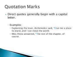 quotes marks quotation marks and italics ppt video online download