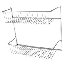 closetmaid 12 in 2 tier storage rack