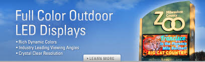 outdoor led signs indoor electronic signs by adaptive micro systems full color displays