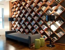 decorations luxury brown wood book shelves design under stair and tetured wood floor large plaid