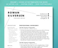 Margins For Resume Classy Resume Template Modern Resume Resume For Word CV Template Etsy