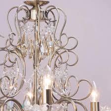 decorative curved metal chandelier frame