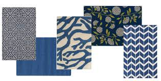 Bright Colored Kitchen Rugs Feeling Blue The Latest Color Of Choice In Decorating Home