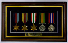 we can mount your medals in a display for hanging on the wall or in a box a glass fronted unit is ideal for both display and keeping your medals in good