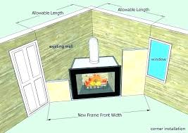 fireplace insert installation cost how much to install gas inserts direct electric costco