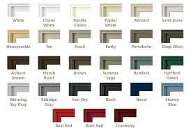 Cozy Pella Window Colors Blogit Top