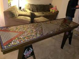 bottle cap furniture. bottle cap beer pong table design furniture