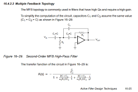 Document Typo On Multiple Feedbadk High Pass Filters Sloa088