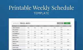 schedule weekly free printable work schedule template for employee scheduling