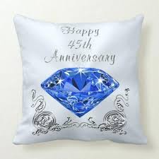 45th anniversary gift ideas for wife blue sapphire gifts throw pillow 45th anniversary present for husband gift what to get pas wedding ideas best