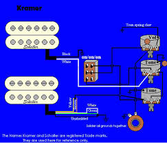 kramer wiring information and reference stock baretta wiring 2 hums i vol 2 tones switch diagram uses schallers pacer imperial and fr signature