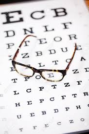 Lying Eye Chart Modern Glasses Lying On Eye Test Chart