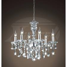 chrome and crystal chandelier creative of lighting chandeliers shine 6 light gleaming mini pendant