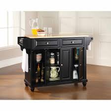 Top Kitchen Crosley Furniture Cambridge Natural Wood Top Kitchen Island