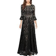 Missmay Dresses Black Lace Bell Sleeve Maxi Dress Poshmark