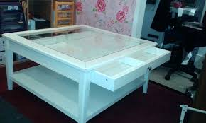 coffee table with display drawer display top coffee table white glass top coffee table with display