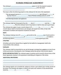 Apartment Sublease Template Residential Sublease Agreement Template Free Example Word Tenancy