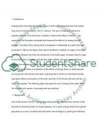 Energy Drink Essay Topics