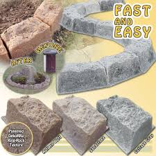 garden edging stone. Lovely Curved Garden Edging Stones Wow Super Realistic Faux Rock Borders Fast And Easy Stone