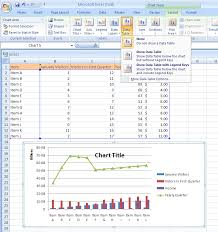 Show Or Hide A Chart Data Table Chart Data Chart