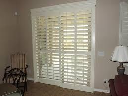 plantation shutters on sliding glass