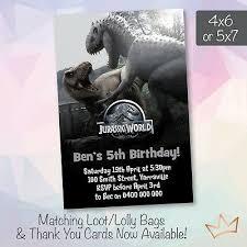 Jurassic Park Invitations Dinosaur Birthday Party Invitations Jurassic Park Invites Ebay
