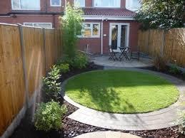 circular grass small garden landscape