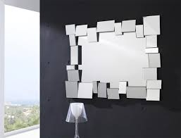 Small Picture Modern Rectangular Wall Mirror with Large Mosaic Frame