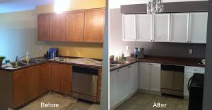 Old Kitchen Remodeling Repainting Kitchen Cabinets Before And After