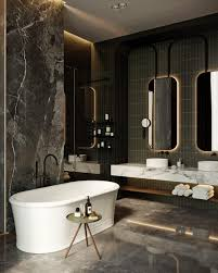 Dark Moody Bathroom Designs That Impress Apartments Interiors - Luxury apartments bathrooms