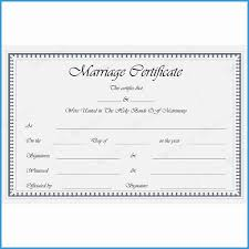 Free Marriage Certificate Template Word Elegant Marriage Certificate