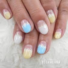 Pookaluna さんのネイルデザイン 夏色パステルカラーのフラワーフ