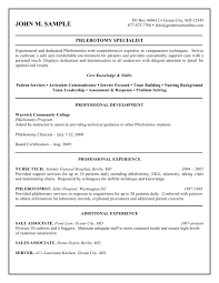 Phlebotomy Resume Examples Impressive Phlebotomy Resume Sample Cover Letter