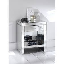 charmful large size venetian mirrored bedside table images design inspiration