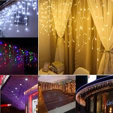 Mini Window Icicle Lights Us 4 9 35 Off 1 5m Led Icicle Curtain Window Lights Waterfall Fairy String Lights For Indoor Outdoor Christmas Holiday Wedding Garlands In Glow