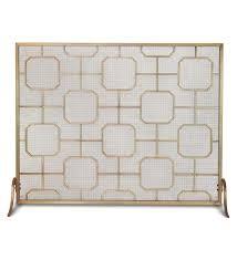 madison single panel fireplace screen fireplace screens modern fireplacesnestmid century