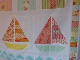 fish quilt block | Crafty Resolutions & Summer beach quilt--sailboat block with Marmalade fabric by bonnie and  camille Adamdwight.com